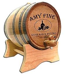 Personalized Wine Bistro 10 Liter White Oak Barrel