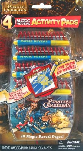 Caribbean Activity - Pirates of the Caribbean Mini Magic Reveal Activity Pads 4 Pack