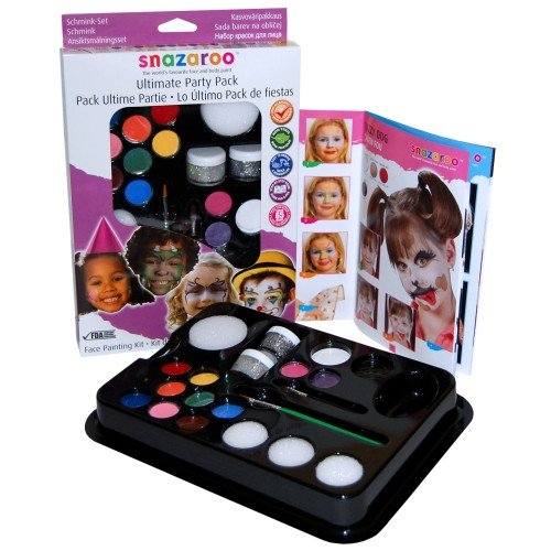 Snazaroo Ultimate Party Pack Kit Makeup for Face Body Paint Cosplay]()