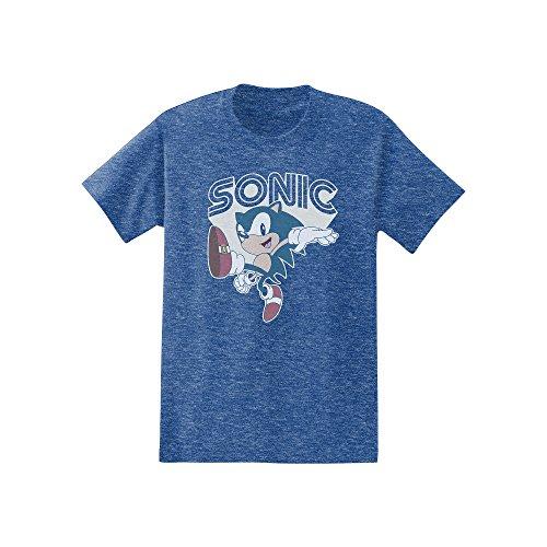 Sonic The Hedgehog - Throwback Hedgehog Adult T-Shirt (Small, Royal Heather) (Adult Hedgehog)