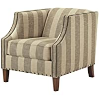 Ashley Furniture Signature Design - Berwyn View Accents Side Chair - Traditional Style Accent Chair - Quartz Stripe