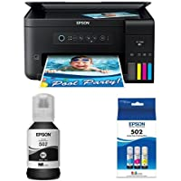 Epson Expression ET-2700 EcoTank Wireless Color All-in-One Supertank Printer with Black Auto-Stop Ink Bottle and Color Combo Pack Auto-Stop Ink Bottle