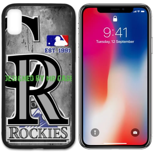Cola Baseball - Rockies Col. Baseball New Black Apple iPhone X Case By Mr Case