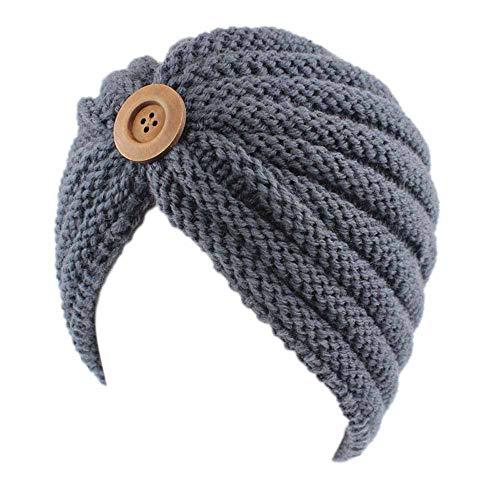 URIBAKE Women's Retro Winter Wool Knitting Hat Turban Brim Ladies' Hat Cap Pile Cap ()