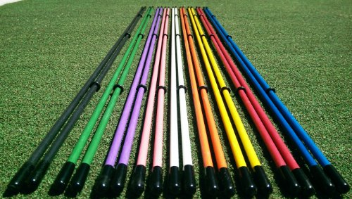 Golfnsticks Golf Alignment Sticks (2-pack) Alignment Rods are the #1 Golf Training Aids among tour players! Choose Your Favorite Color! (orange)