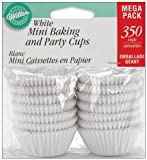 Wilton Baking Cups, Mini, White, 350-Count