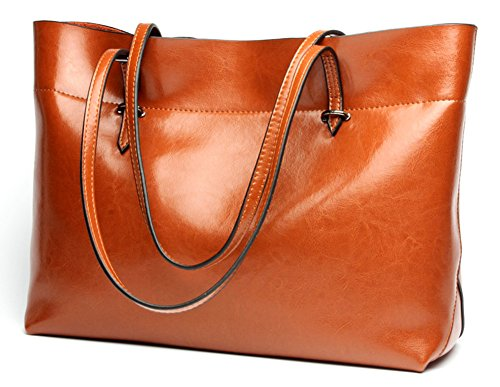 Molodo Womens Satchel Hobo Stylish Top Handle Tote Genuine Leather Handbag Shoulder Purse (Leather Hobo Tote)