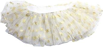 Patrón niñas falda del tutú de tul blanco de la estrella de los ...