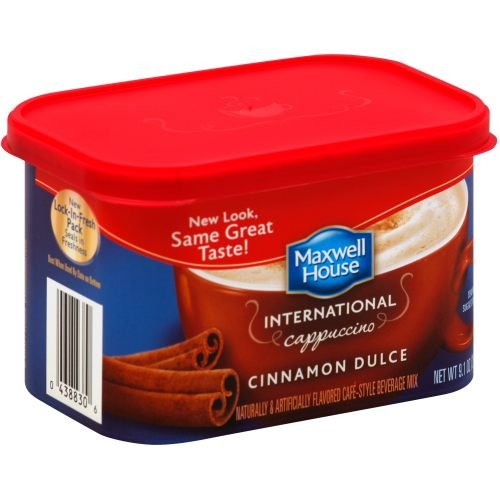 Maxwell House Cinnamon Dulce Cappuccino Cafe Style Instant Beverage Mix, 9.1 Ounce - 8 per case.