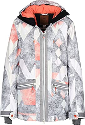 Roxy Ascend W Chaqueta de Snow Frozen mntn/HTHR Grey: Amazon ...