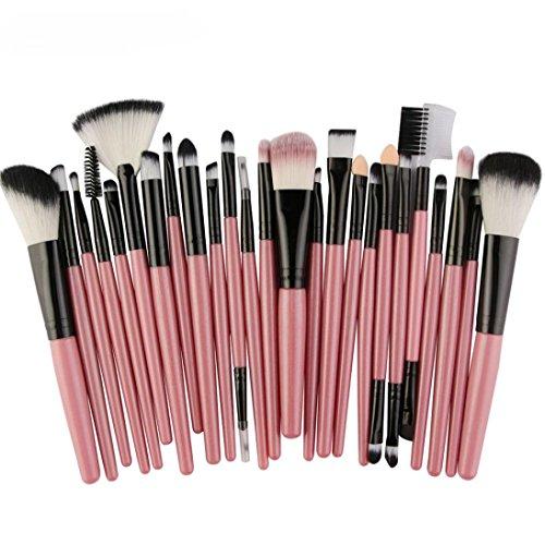Multi Blusher - Hot Sale!!! Makeup Brush Set,Jushye 25pc Cosmetic Make up Brush Blusher Eye Shadow Brushes Set Kit (Pink)
