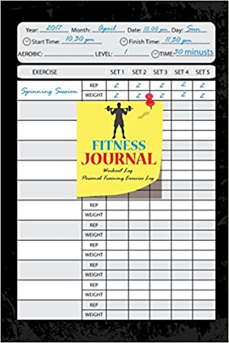fitness journal workout log personal training exercise log weight