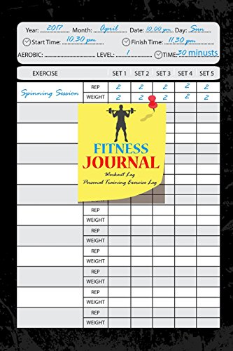 Fitness Journal:Workout Log:Personal Training Exercise Log:Weight Loss: Notebook 6x9 inch 105 Page:Fitness Journal and Diary Workout log:Gym Training Log Book