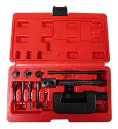 Motorcycle / ATV Cam Chain Breaker and Rivet Cutting Tool 13 Piece Set Sizes 428/520/530