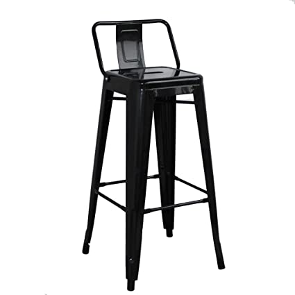Astounding Amazon Com Aoli Metal Bar Stools With Back Industrial Iron Caraccident5 Cool Chair Designs And Ideas Caraccident5Info