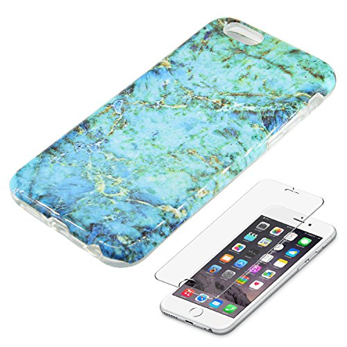Turquoise Marble Protective Tempered Protector