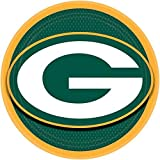 """Green Bay Packers Super Bowl Party 9"""" Disposable Paper Dinner Plates, 8 Pack"""