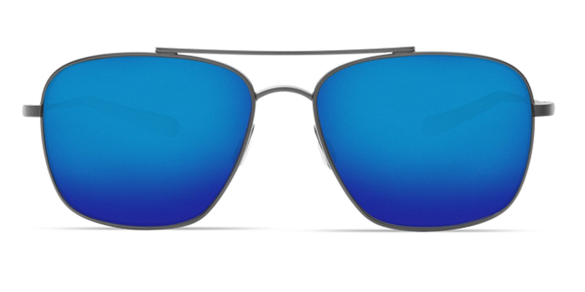 Costa Del Mar Canaveral Sunglasses Brushed Gray//Blue Mirror 580Plastic Pro-Motion Distributing Direct CAN185OBMP