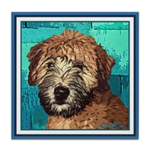 CafePress - Soft Coated Wheaten Terrier - Tile Coaster, Drink Coaster, Small Trivet - Soft Coated Wheaten Terrier Tile