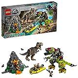 LEGO Jurassic World T. rex vs Dino-Mech Battle 75938, New 2019 (716 Pieces)