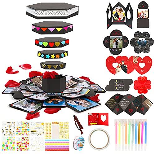 Koogel Explosion Box Set, DIY Photo Album Box Album Gift Box Surprise Gift Box for Marriage Proposals Making Surprises Birthday Christmas