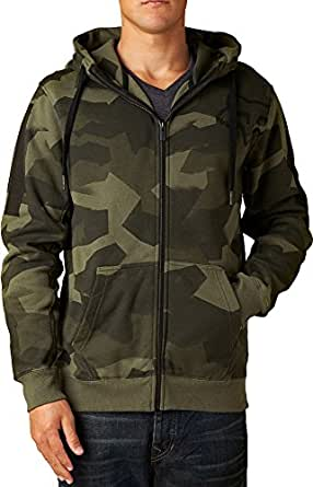 Fox Racing Mens Overload Camo Fleece Hoody Zip Sweatshirt, Camo, Large