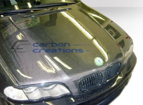 Carbon Creations 102590 1999-2001 BMW 3 Series E46 4DR Carbon Creations OEM Hood - 1 Piece 4dr Oem Carbon Fiber Hood