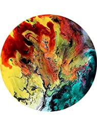 Ceramic Coaster Set of 4,Absorbent Stone Coasters for Cold Drinks Coffee Mug Glass Cup Place Mats (Artifical Painting Marble)