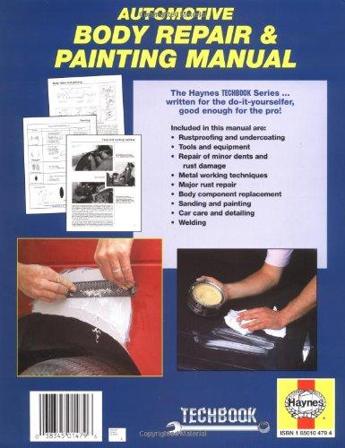 haynes techbook automotive body repairs painting manual amazon rh amazon co uk car bodywork repair manual Chilton Auto Repair Manual Online