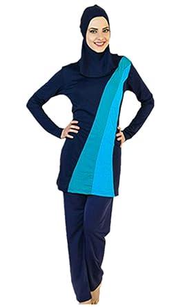 3edb9b4057 TianMaiGeLun Muslim Swimwear Women Full Coverage Islamic Swimsuit Modest  Swimsuit Hijab Sun Protection Muslim Swimming Beachwear