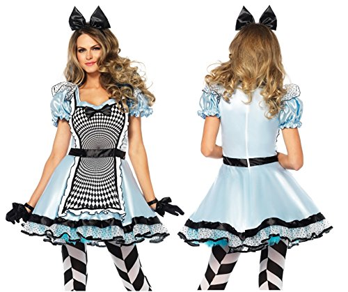Disney Women's Hypnotic Miss Alice Costume, Blue/Black, Medium (Adult Themed Halloween Costumes)