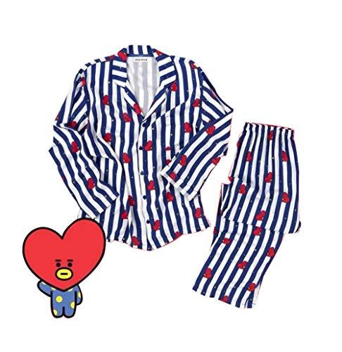 BTS Bangtan Boys JUNG JOOK Jimin V Same Harajuku Style Pajamas Sleepwear Nightgown (l, V)