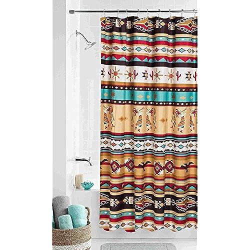 Southwest KOKOPELLI Fabric Shower Curtain Southwestern Aztec Bath Decor