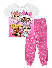 L.O.L. Surprise! Girls 2-Piece Cotton PJ - Short-Sleeve Top & Jogger Pants 6