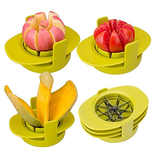 Apple Corers Cutter Slicer Stainless Steel Apple Fruit Cutter Tomato Mango Slicer Multifunction Kitchen Gadget Dishwasher Safe.