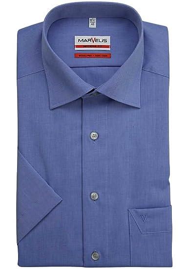 Marvelis - Chemise business - Uni - Col chemise classique - Manches courtes  - Homme - 7f0948d7910