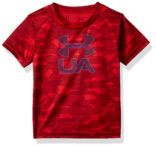 Under Armour Baby Boys Edge Camo Logo Short Sleeve T-Shirt, Red, 12M - Edge Logo T-shirt