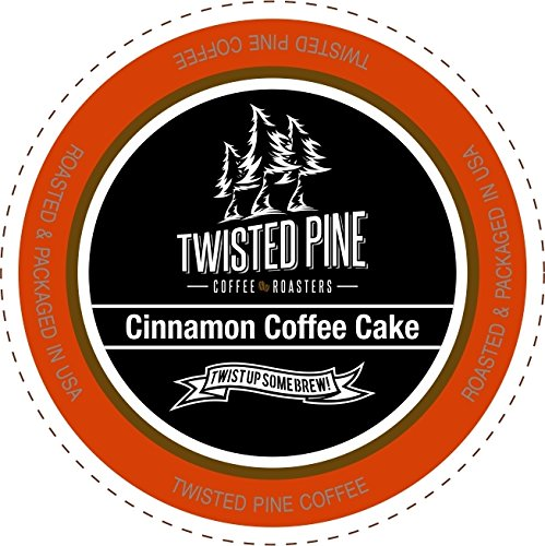 Twisted Pine Coffee Cinnamon Coffee Cake Flavored Coffee SingleServe Cups for Keurig KCup Brewers 80 Count