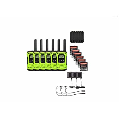 Motorola FRS/GMRS T600 Two-Way Radios / Walkie Talkies - Rechargeable & Fully Waterproof 6 PACK