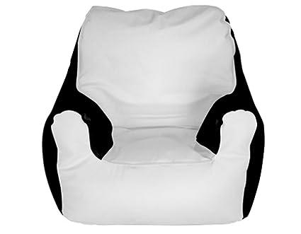 Genial E SeaRider Armchair Marine Beanbag, Medium, White/Black