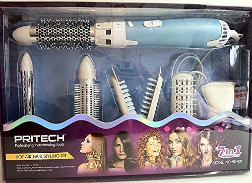 Estuche de peluquería (Moldeador 7 en 1 azul secador pelo Brushing hierro RMDIST