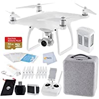 DJI Phantom 4 Quadcopter Bundle includes Sandisk 32GB Extreme Plus MicroSDHC Memory Card + High Speed Card Reader + Fumfie External Battery Pack + More!!!