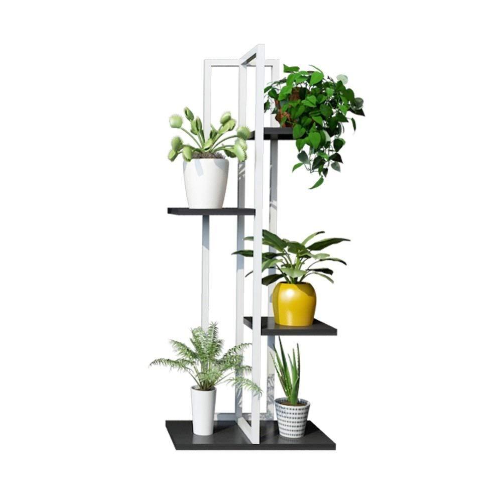 金属植物フラワースタンド、床植物ディスプレイ棚、装飾的なリビングルーム、寝室、バルコニー、庭、ホームデスクトップ装飾収納棚 (色 : #2) B07QGNSVPV #2