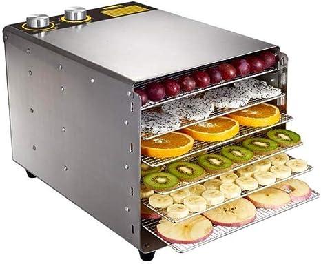 Opinión sobre L.TSA Deshidratador de Alimentos Secador de Alimentos, Temporizador de Control de Temperatura Acero Inoxidable 304 6 bandejas, Deshidratador de Alimentos, para el procesamiento Fresco de Car