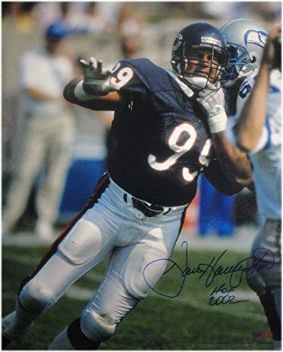 (Dan Hampton Hand Signed Autographed 16x20 Photo Chicago Bears #99 Hof 2002 Small)