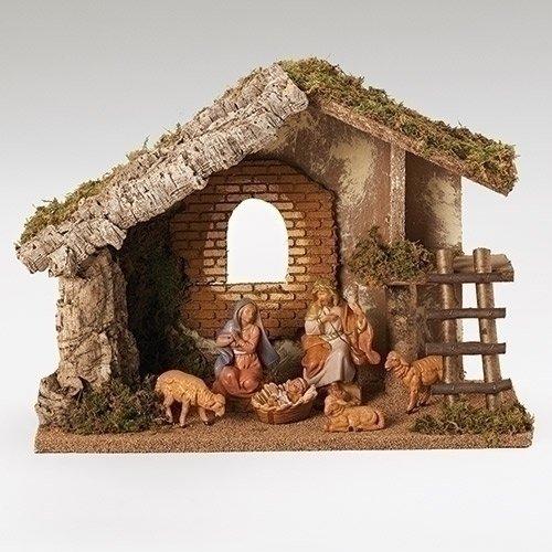 Roman Fontanini 6 Piece Italian Christmas Nativity Set wi...