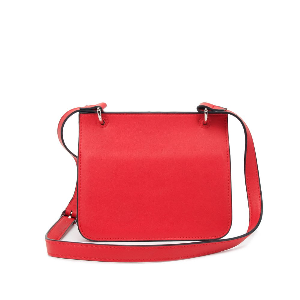 Red Sunmiao Simple Retro Lock Tassel PU Shoulder Bag Messenger Bag