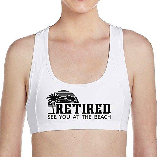 adaeeb06b Tinger Retired Beach Shirt See You At The Beach Women Sports Bras - High  Impact Workout