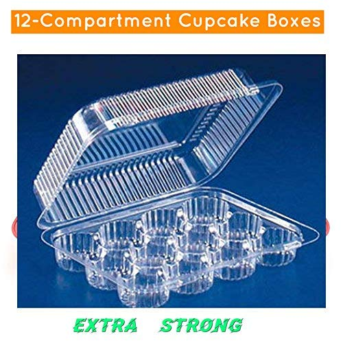 Oasis Supply 24 6-Compartment Cupcake & Muffin Container with Hinged Lid, Clear