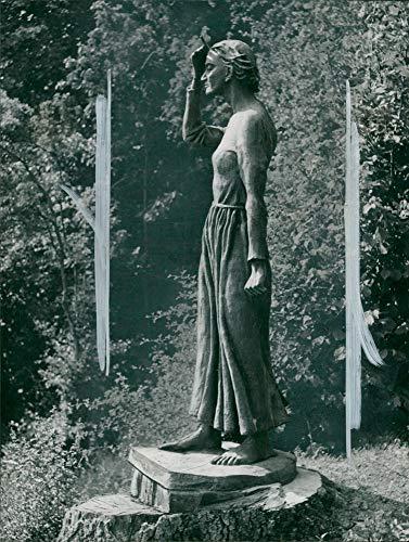 Vintage photo of Statue of Saint Joan in Bernard Shaw39;s garden